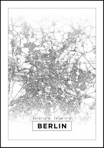 Map - Berlin - White