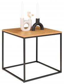 Hjørnebord Vita 45x45 cm - Svart/Eik