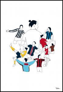History Of Zlatan Colours Plakat