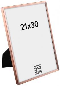 Ramme Slät Metall Kobber 21x30 cm