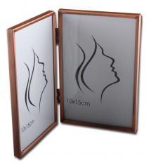 Slät Metall Folderamme Kobber 10x15 cm - 2 Bilder