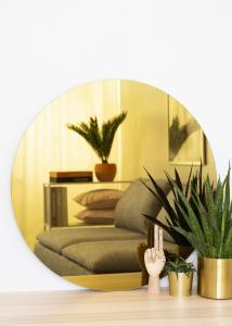 KAILA Rundt Speil Gold 80 cm Ø