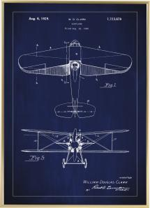 Patenttegning - Fly - Blå
