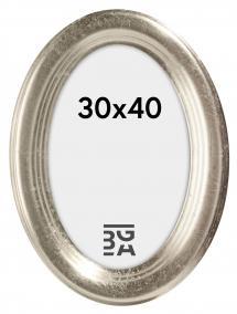 Molly Oval Sølv 30x40 cm