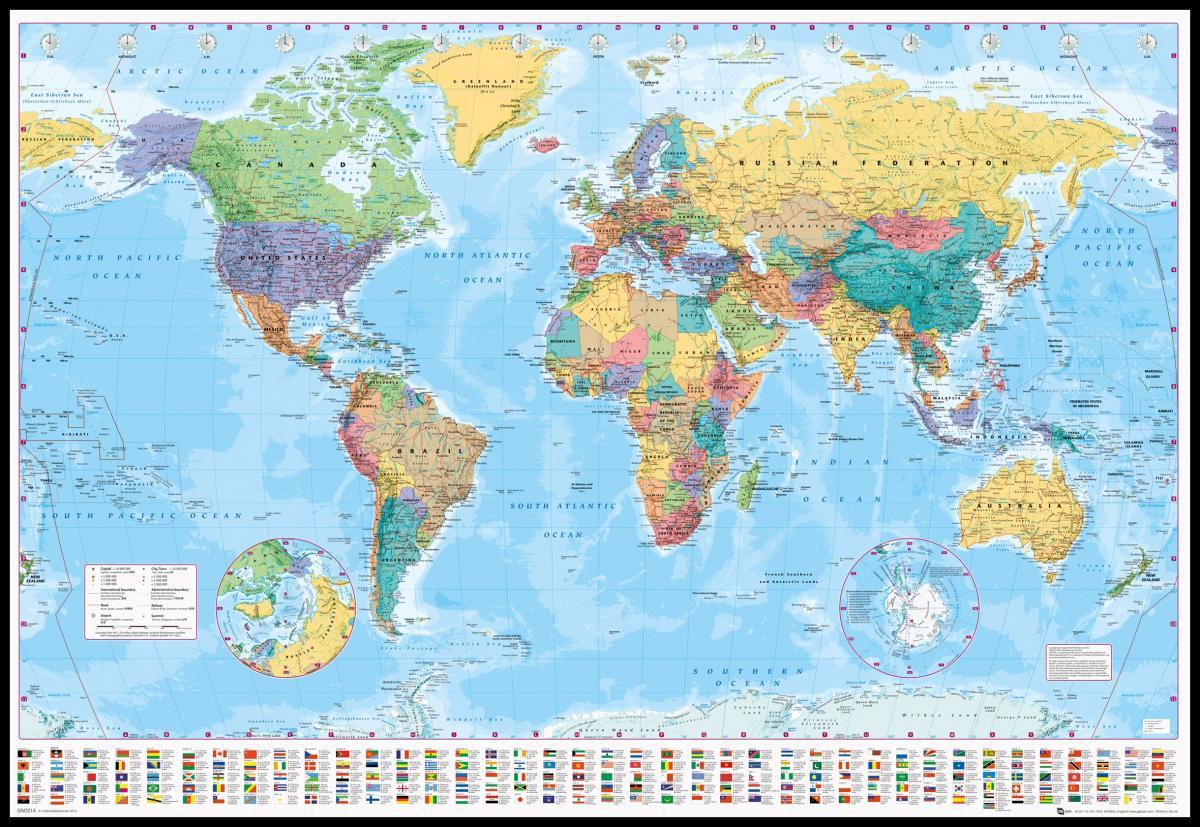 kart over verden med navn på land Klassisk Verdenskart   BGA Fotobutikk kart over verden med navn på land