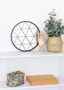 KAILA Rundt Speil Triangles - Svart 35 cm Ø