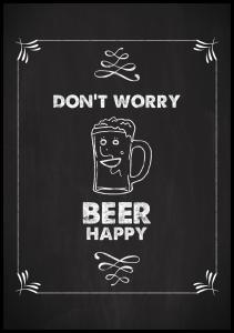 Don´t worry beer happy Plakat