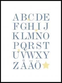 ABC - Blå/Beige