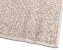 Gjestehåndkle Stripe Frotté - Sand 30x50 cm