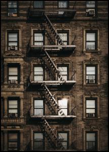 New York Fire Escape Plakat