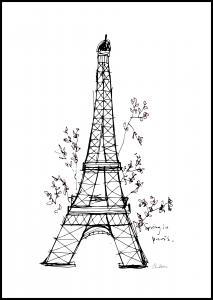 Spring in Paris Plakat
