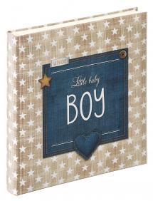 Little Baby Boy Blå - 28x30,5 cm (50 Hvite Sider / 25 Ark)