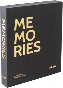 KAILA MEMORIES Black - Coffee Table Photo Album (60 Svarte Sider / 30 Ark)
