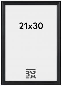 Line Svart 21x30 cm