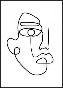 Face Line I Plakat