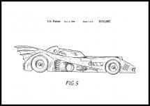 Patenttegning - Batman - Batmobile 1990 III - Plakat