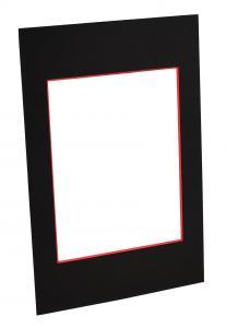 Passepartout Svart (Rød kjerne) - Målbestilt