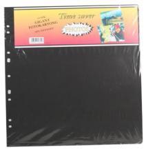 Albumblad Timesaver Gigant - 10 Svarte ark