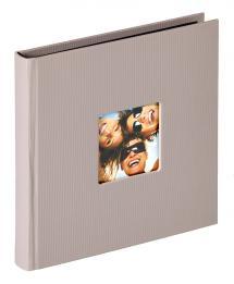 Fun Album Grå - 18x18 cm (30 Svarte Sider / 15 ark)