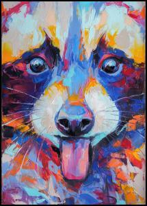 Raccoon Painting II Plakat