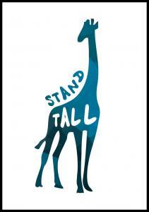 Giraffe stand tall - Blå