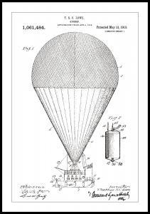Patenttegning - Luftskip - Hvit