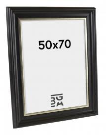 Dalarna Svart-Sølv 33A 50x70 cm