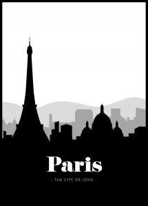 Paris Skyline Plakat