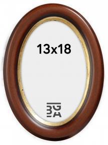 Molly Oval Brun 13x18 cm