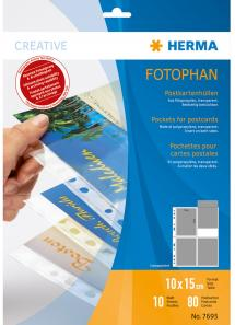 Herma Fotolommer for postkort - 10 blad