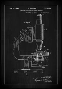 Patent Print - Microscope - Black Plakat