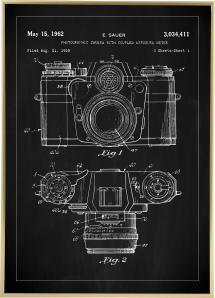 Patenttegning - Kamera I - Svart