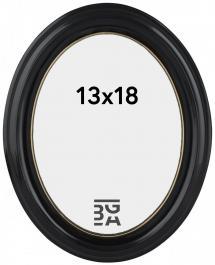 Eiri Mozart Oval Svart 13x18 cm