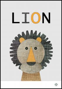 Fabric lion Plakat
