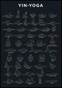 Yoga - Navy Plakat