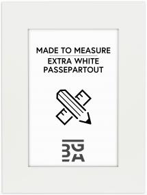 Passepartout Ekstra Hvit (Hvit kjerne) - Målbestilt