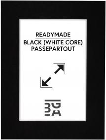Passepartout Svart (Hvit kjerne) 30x40 cm (20x28,7 - A4)