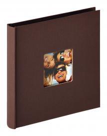 Fun Album Mørk brun - 18x18 cm (30 Svarte Sider / 15 ark)