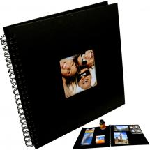 Fun Spiralalbum Svart - 30x30 cm (50 Svarte Sider / 25 Ark)