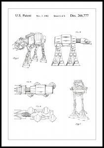 Patenttegning - Star Wars - Walker - Hvit Plakat