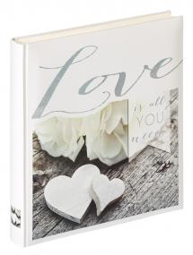 Love is all you need - 28x30,5 cm (50 Hvite sider)