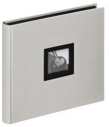 Black & White Grå - 26x25 cm (50 Sorte sider)