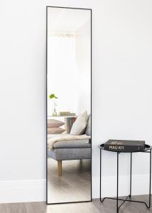 Speil Narrow Svart 40x170 cm