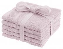 Vaskeklut Basic Frotté - Rosa 25x25 cm 5-pakning