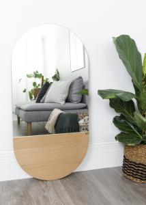Speil Oval Eik 50x100 cm
