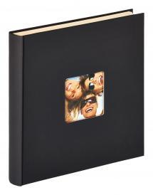Fun Selvklebende Svart - 33x34 cm (50 Hvite sider / 25 ark)