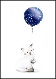 Cat With Balloon Plakat