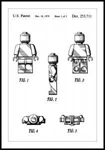 Patenttegning - Lego I - Poster