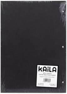 KAILA Refill Sheets - Coffee Table Photo Album 30 pcs - Black