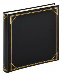 Kvadrat Svart - 30x30 cm (100 Hvite sider / 50 ark)